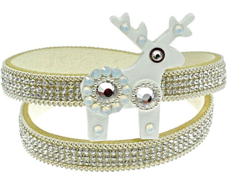 Deers Náramek s jelínkem White Pearl