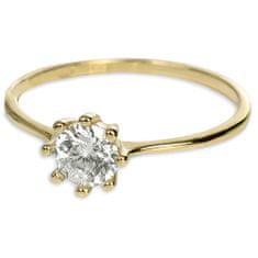 Brilio Zlatý zásnubný prsteň s kryštálom 226 001 00934