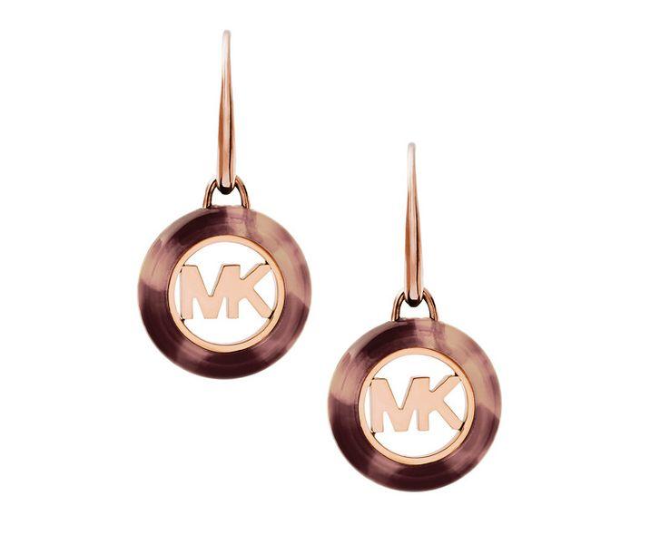 Michael Kors Pozlacené náušnice MKJ5355791