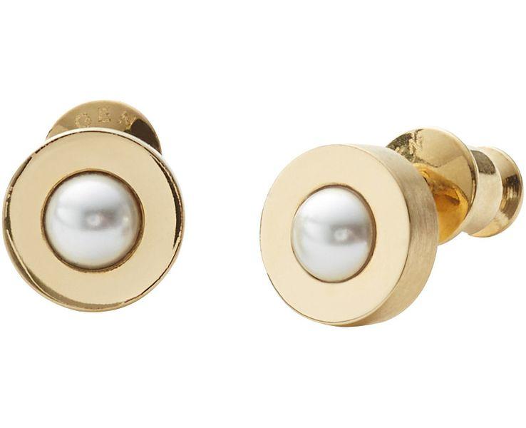 Skagen Dámské pozlacené náušnice s perličkou SKJ0801710