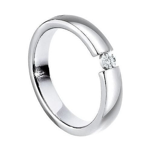 Morellato Ocelový prsten s diamantem Love Rings S8532 (Obvod 63 mm)