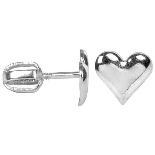 Troli Stříbrné náušnice Srdce 431 001 00440 04
