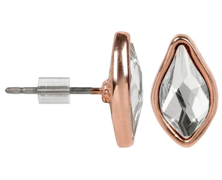Troli Bronzové náušnice Flame Crystal