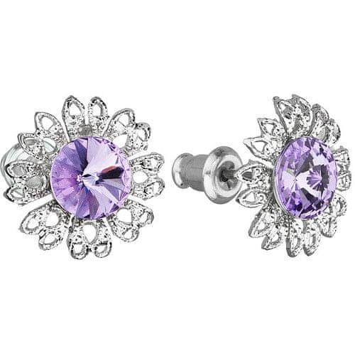 Troli Náušnice Ancient Flowers Violet