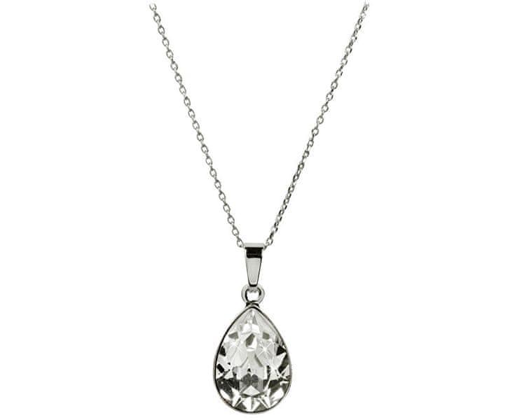 Troli Oslnivý náhrdelník Pear Crystal