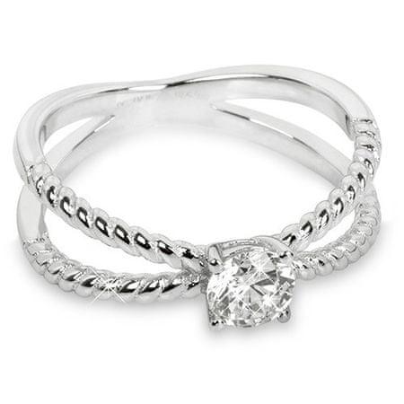Silver Cat Stříbrný prsten se zirkony SC180 (Obvod 54 mm)