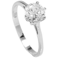 Brilio Silver Strieborný zásnubný prsteň 5119085