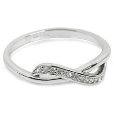 Brilio Silver Strieborný prsteň so zirkónmi 31G3100