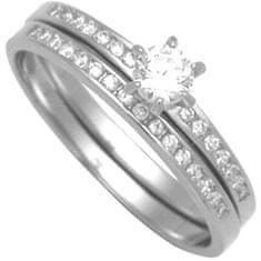 Brilio Silver Sada strieborných prsteňov 31G3038