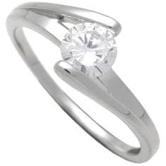 Brilio Silver Strieborný zásnubný prsteň 7111048