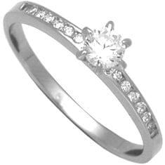 Brilio Silver Strieborný zásnubný prsteň 31G3042