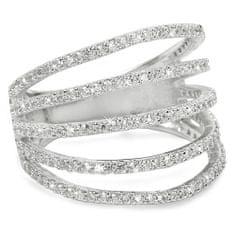 Brilio Silver Strieborný prsteň so zirkónmi 31G3098