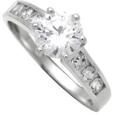 Brilio Silver Strieborný zásnubný prsteň 7111044