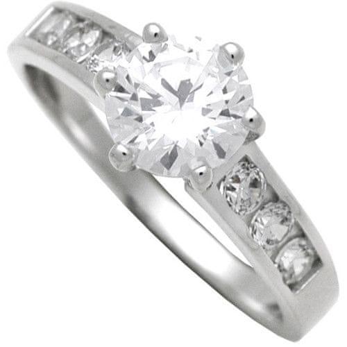 Brilio Silver Stříbrný zásnubní prsten 7111044 58 mm