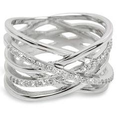 Brilio Silver Strieborný prsteň so zirkónmi 31G3071