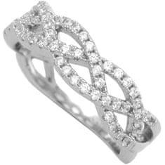 Brilio Silver Strieborný prsteň so zirkónmi 31G3035