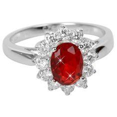Brilio Silver Strieborný prsteň s červeným kryštálom 5121615R