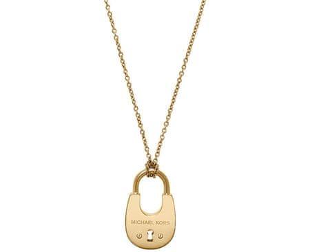 Michael Kors Dlhý pozlátený náhrdelník so zámkom MKJ4633710
