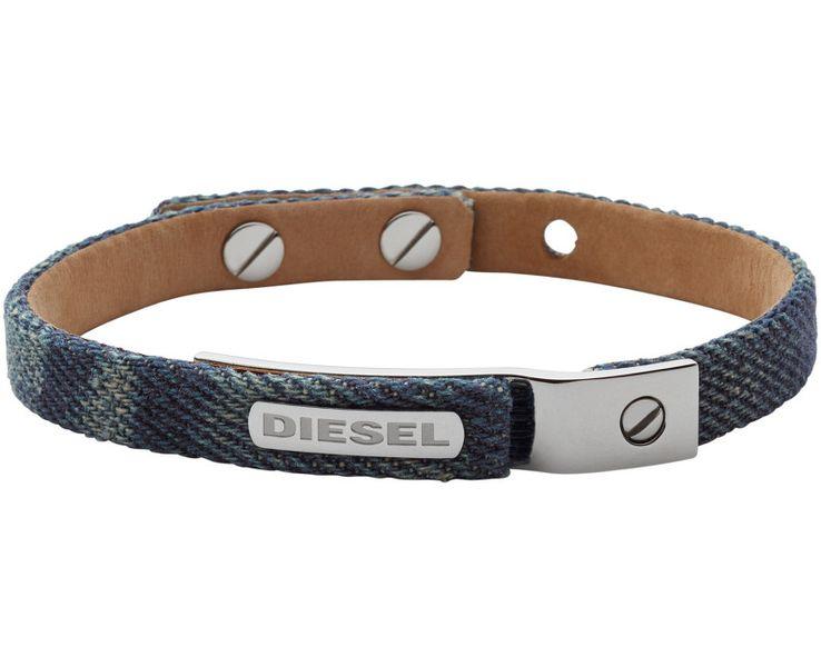 Diesel Pánský denim náramek DX0974040