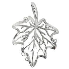 Troli Stříbrný přívěsek List s krystaly 446 001 00351 04
