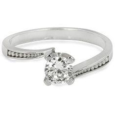 Troli Strieborný zásnubný prsteň s čírym kryštálom 426 001 00500 04