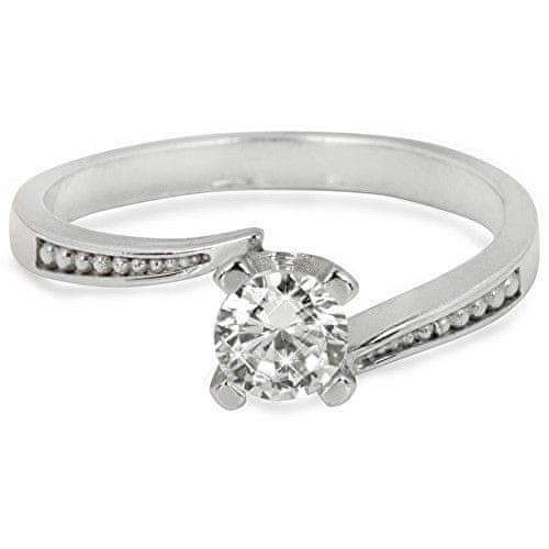 Troli Stříbrný zásnubní prsten s čirým krystalem 426 001 00500 04 54 mm 426 001 00500 04