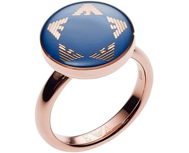 Emporio Armani Luxusní dámský prsten EGS2236221 (Obvod 52 mm)