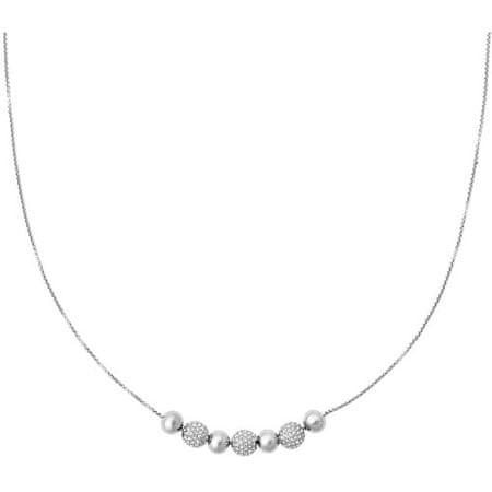 Michael Kors Jemný ocelový náhrdelník s krystaly MKJ5523040