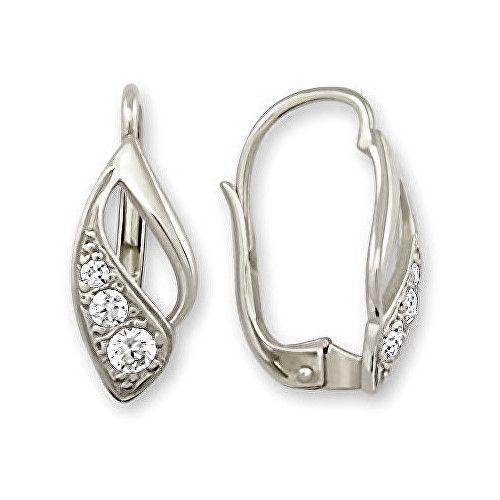 Brilio Náušnice z bílého zlata s krystaly 239 001 00186 07