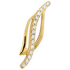 Brilio Elegantný zlatý prívesok s čírymi kryštálmi 249 001 00358