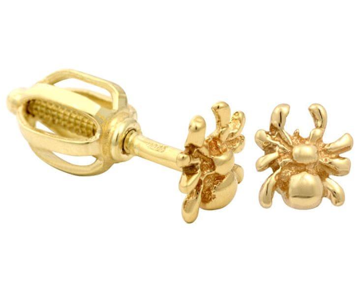 Brilio Zlaté dámské náušnice pavoučci 231 001 00454 - 0,95 g