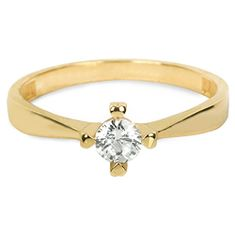 Brilio Zlatý zásnubný prsteň 226 001 01016