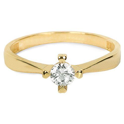 Brilio Zlatý zásnubní prsten 226 001 01016 (Obvod 59 mm)