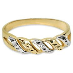 Brilio Bicolor zlatý prsteň 221 067 00013