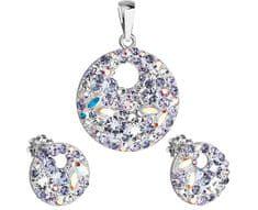 Evolution Group Elegantná súprava šperkov Violet 39148.3
