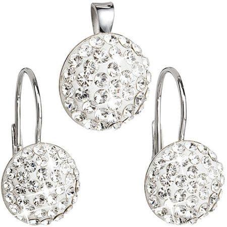 Evolution Group Sada šperků s krystaly Swarovski 39086.1 stříbro 925/1000