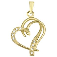 Brilio Módne zlatý prívesok Srdce 249 001 00431 - 1,30 g