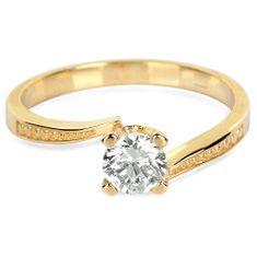 Brilio Zlatý zásnubný prsteň s kryštálom 226 001 01023