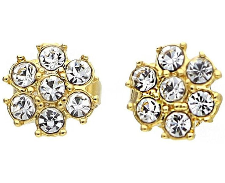 Guess Pozlacené náušnice s krystaly UBE21542