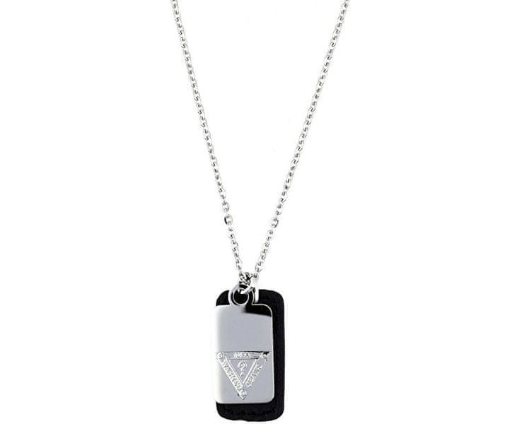Guess Slušivý pánský náhrdelník se známkami UMN21506