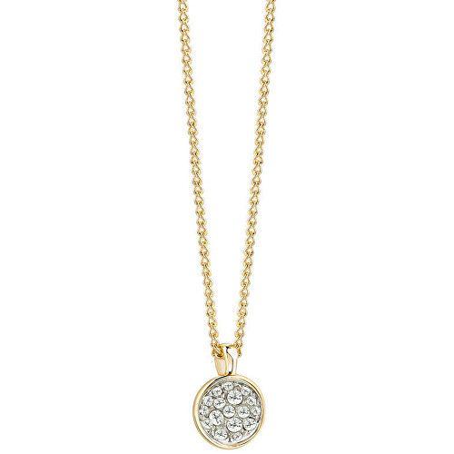 Guess Pozlacený náhrdelník s krystaly UBN71516