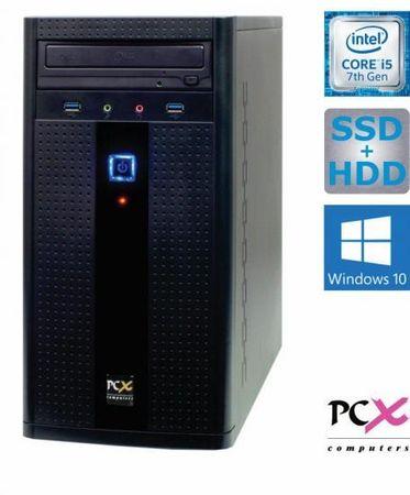 PCX namizni računalnik Exam i5-7400/8GB/SSD120+1TB/Win10H