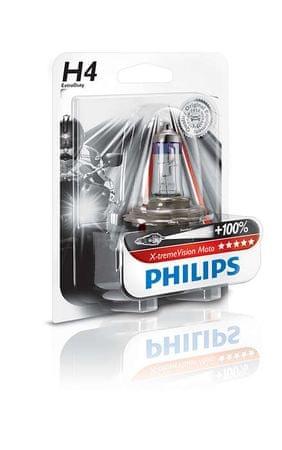 Philips žarnica H4 X-tremeVision Moto, 12V, 55W