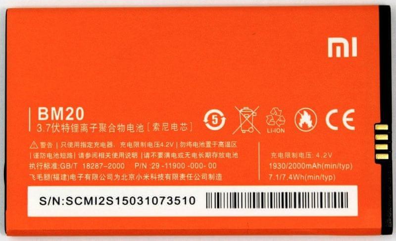 Xiaomi Xiaomi Baterie BM20 (2000 mAh), oranžová (Bulk)