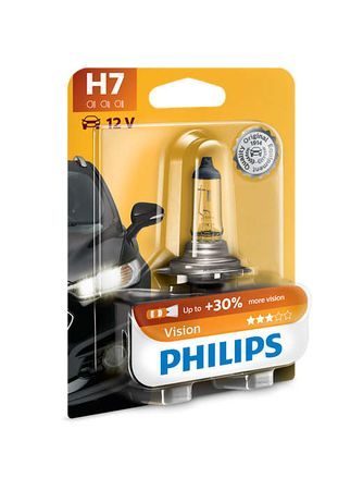 Philips halogenska žarnica H7 Vision + 30%, 12 V
