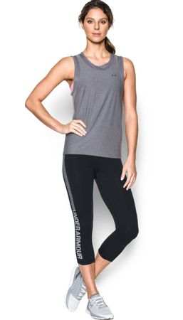Under Armour spodnie Fav Capri - Gra Blk White L