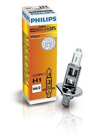 Philips halogenska žarnica H1 Vision + 30%, 12 V