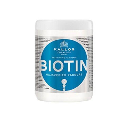 Kallos Maska na vlasy s biotinem (Biotin Beautifying Hair Mask) (Objem 275 ml)