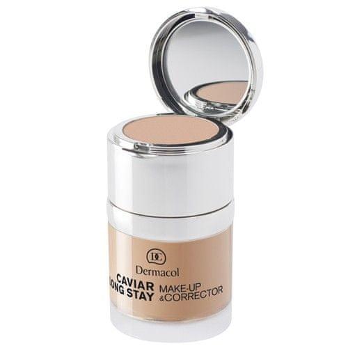 Dermacol Dlouhotrvající make-up s výtažky z kaviáru a zdokonalovací korektor (Caviar Long Stay Make-Up & Corr