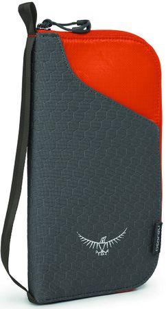 Osprey denarnica za dokumente, črno-oranžna